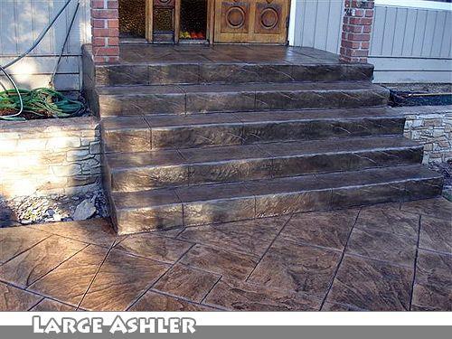 Cmdt systems decorative stamped concrete walkways and - Concrete porch steps ideas ...