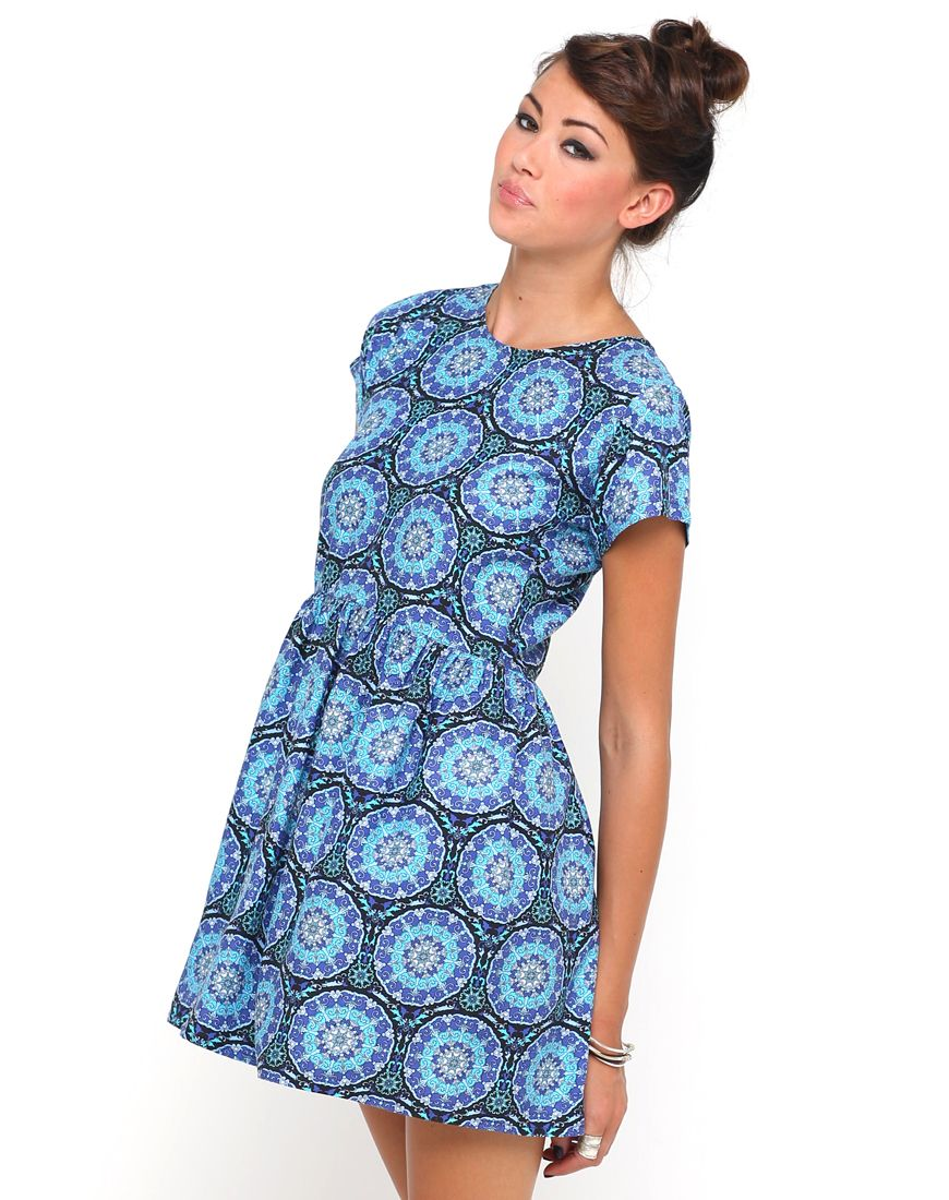 Motel Penny Babydoll Dress in Mandala Print, TopShop, ASOS, House of ...
