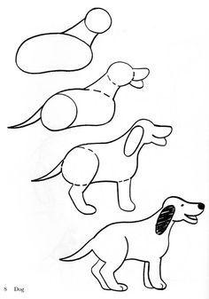 Dibujar Perro Fácil Bocetos De Animales En 2019 Baby Animal