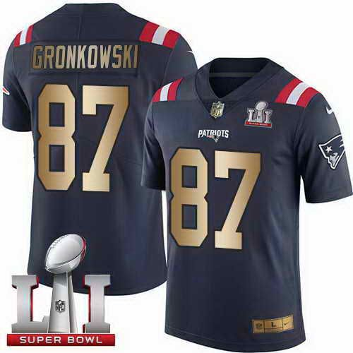 nike patriots rob gronkowski navy blue super bowl li 51 mens stitched nfl limited gold rush jersey and ray lewis jersey