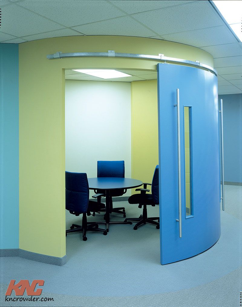 1 This Is Anything But Your Typical Office Curved Sliding Doors