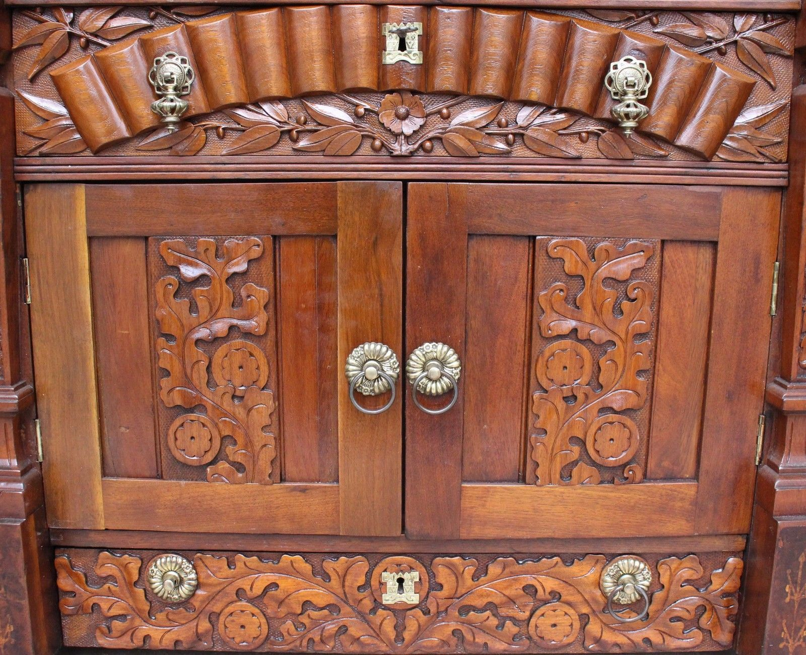 La Credenza In English : An early english victorian foyer credenza cabinet back & side