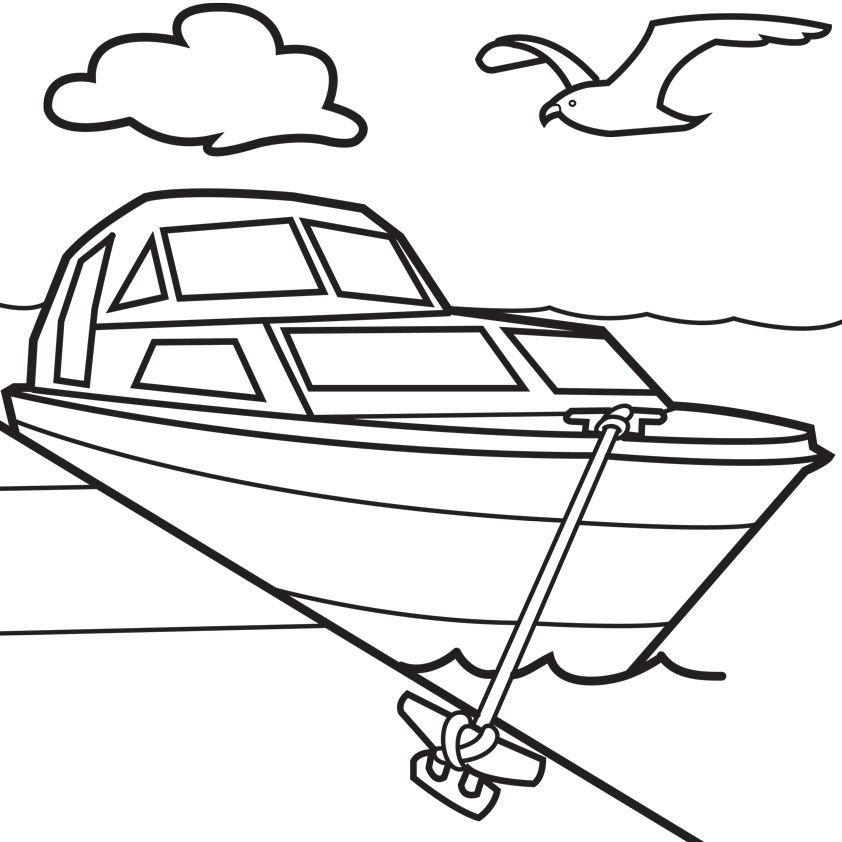 boat ocean coloring for kids - Coloring Pages Boats