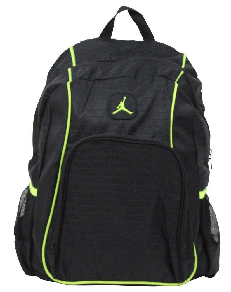 fa0003e4cc Amazon.com: Jordan Air Nike Legacy Men's Tablet Laptop Backpack Bag Black:  Computers & Accessories