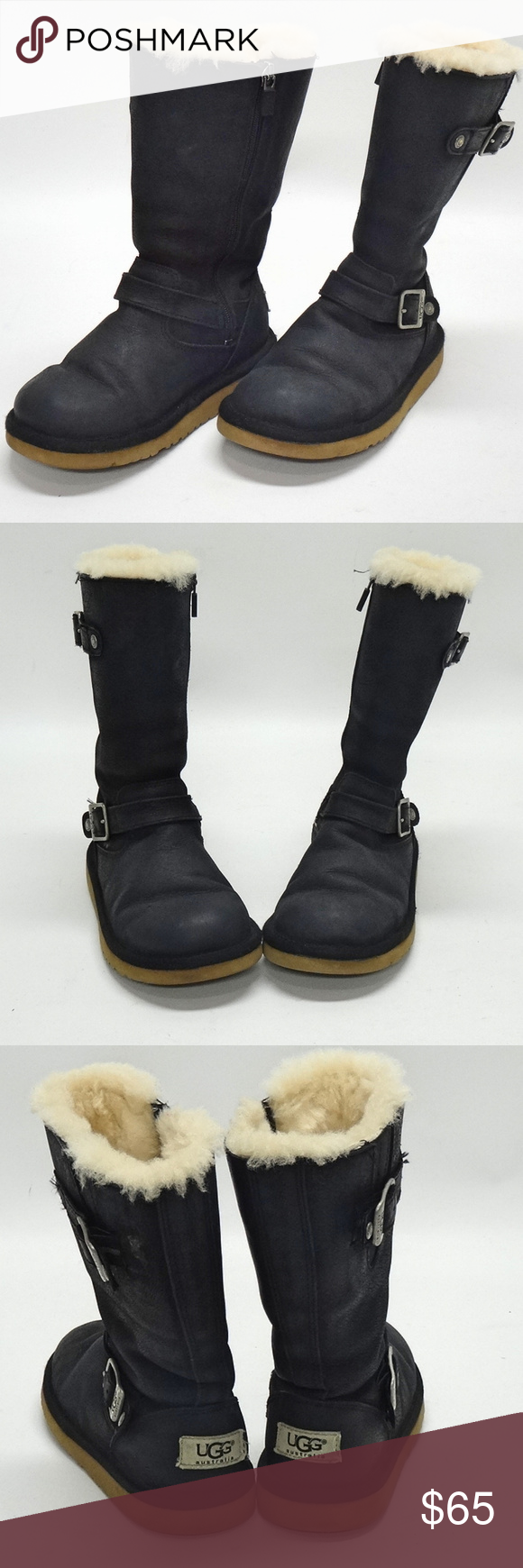 UGG Girls Black Suede Faux Shearling Winter Boots UGG 1969 GIRLS BLACK SUEDE FAUX SHEARLING LINED WINTER/SNOW BOOTS IN SOLD BLACK  YOUNG KIDS/YOUTH SIZE 13US/12UK/30EU  ZIPPERED SIDES MAKES IT EASY FOR PUTTING ON AND TAKING OFF MEASURES 9 FROM SOLE TO TOP  EXCELLENT PRE-OWNED CONDITION - MINIMAL SCUFFS THROUGHOUT - MINIMAL WEAR ON SOLES & UPPER ANKLES UGG Shoes Rain & Snow Boots #uggbootsoutfitblackgirl UGG Girls Black Suede Faux Shearling Winter Boots UGG 1969 GIRLS BLACK SUEDE FAUX SHEARLIN #uggbootsoutfitblackgirl