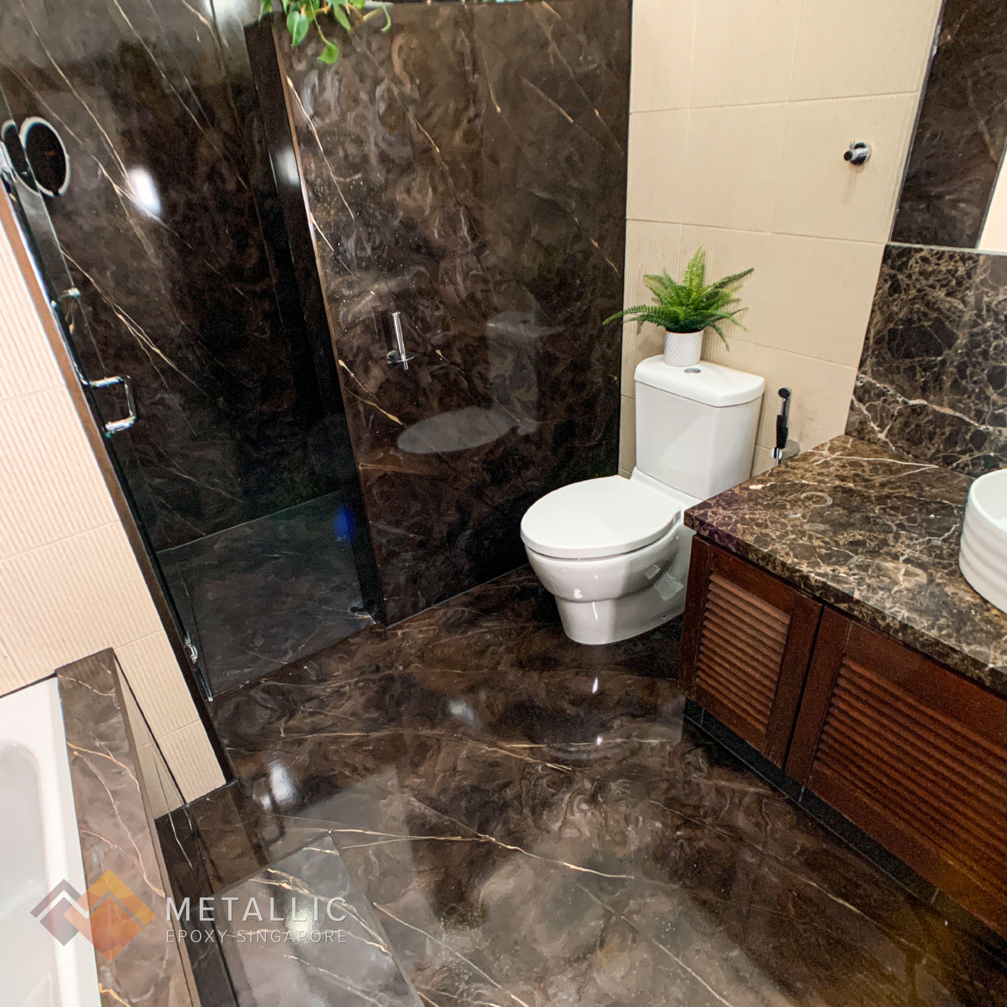 Metallic Epoxy Bathroom Flooring Walls Bathroom Flooring Flooring Floor Design