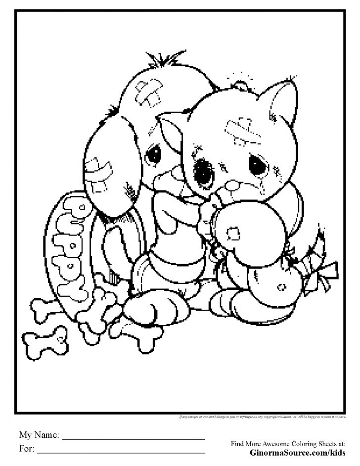 Puppies And Kittens Coloring Pages