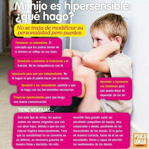Mi hijo(a) es hipersensible: ¿qué hago?