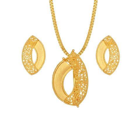 Trendy gold tanishq pendant set gold pendants sets online titan trendy gold tanishq pendant set aloadofball Gallery