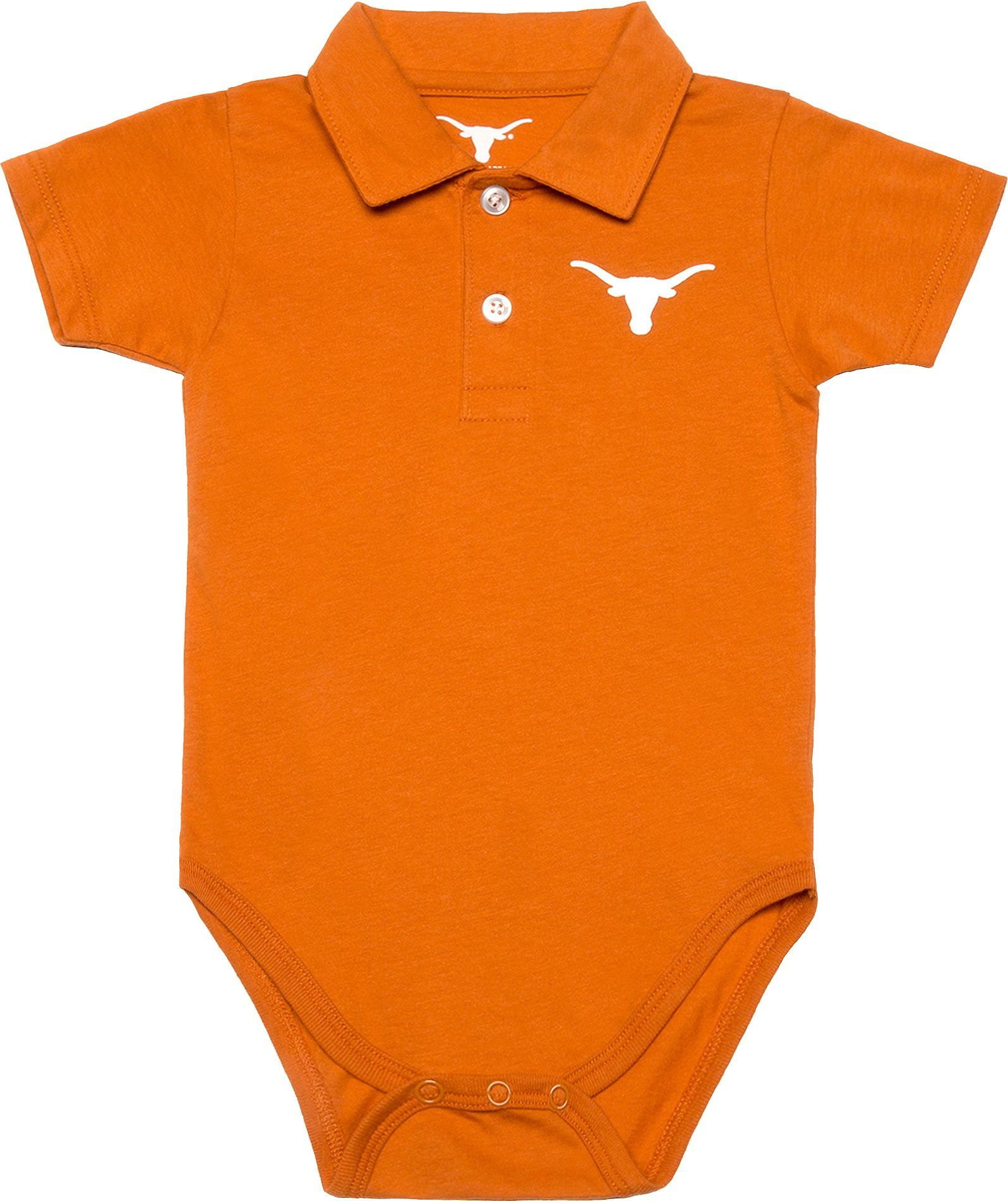 214c101e25451 University of Texas Authentic Apparel Infant Texas Longhorns Burnt Orange  Curt Polo Onesie