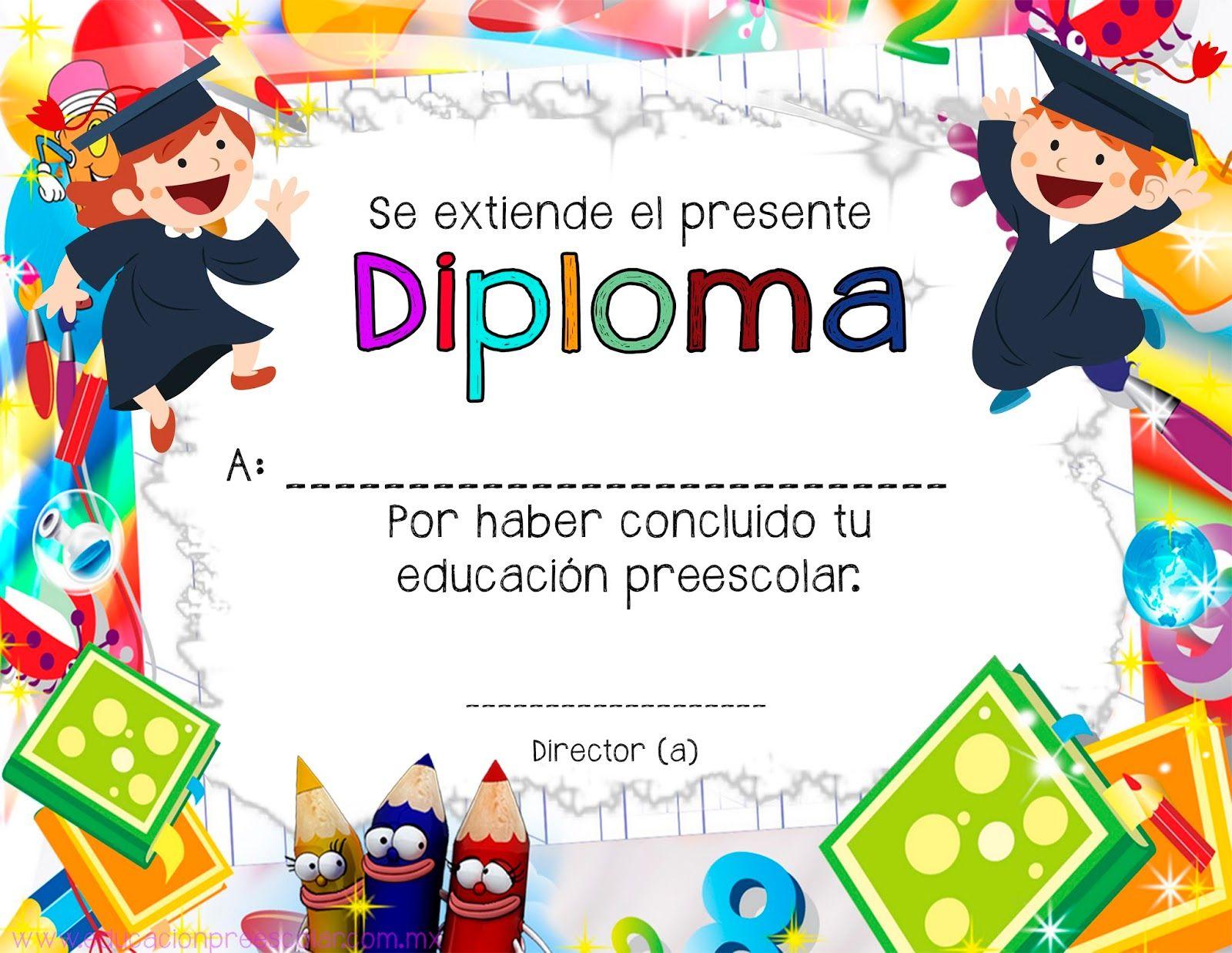 Educación Preescolar: 7 Diplomas para culminación de estudios ...