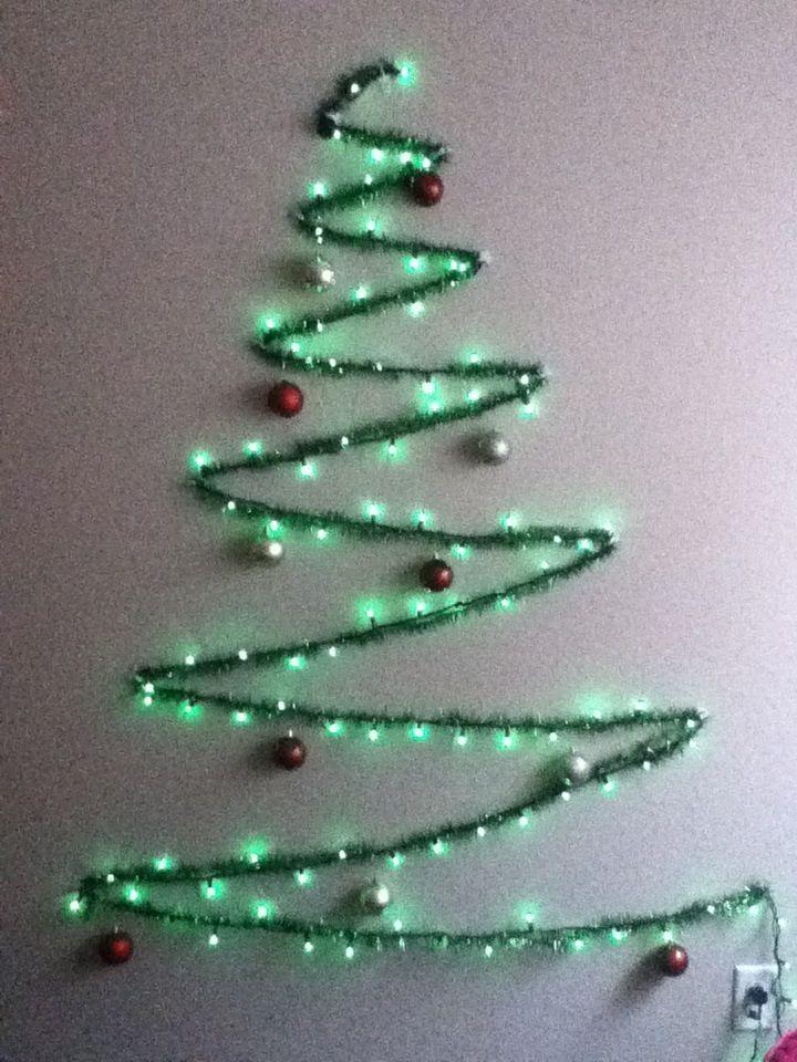 32 Artificial Wall Christmas Tree Inspirations Godfather Style Wall Christmas Tree Diy Christmas Wall Creative Christmas Trees