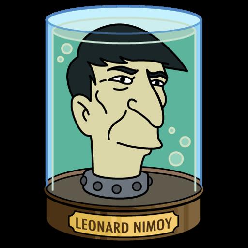 Futurama leonard nimoy head sticker art print by jonytrifulca