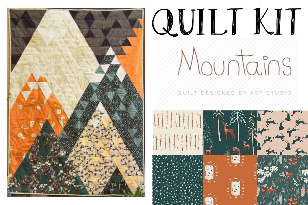 Camping Quilt Kit - Mountains Quilt Kit - Campsite by Art ...