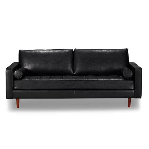 Bombay Leather Sofa Amp Reviews Allmodern Genuine