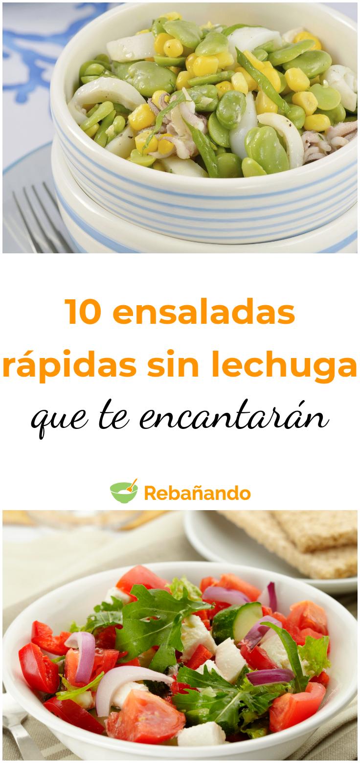 10 ensaladas rápidas sin lechuga que te encantarán