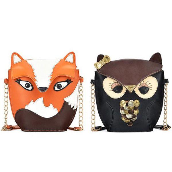Cute Fox/Owl Women Shoulder Bag