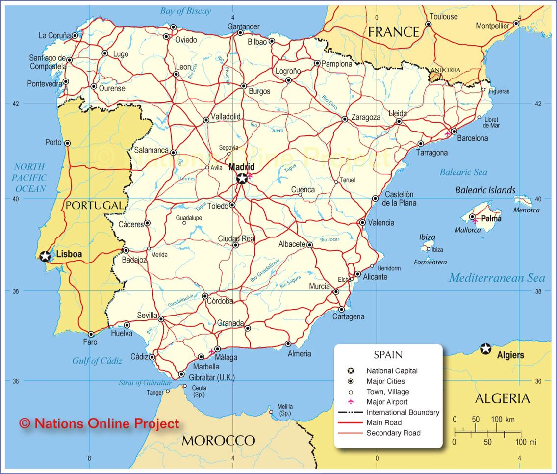 Map Of Spain La Manga.Cites Of Spain I Ll Be Starting In Madrid And Going To Murcia And