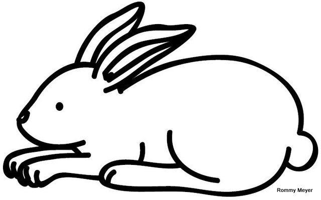 het konijn kleurplaten peuters zoeken