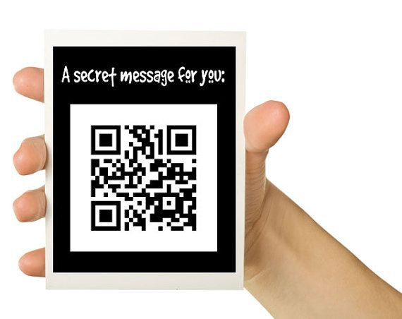 Qr Secret Message 8 X 55 Greeting Card By Thewallaroo On Etsy