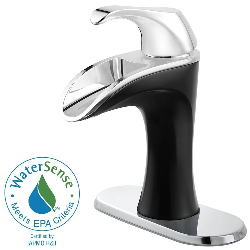 Pfister Brea 4 in. Centerset Single-Handle Bathroom Faucet in Chrome ...