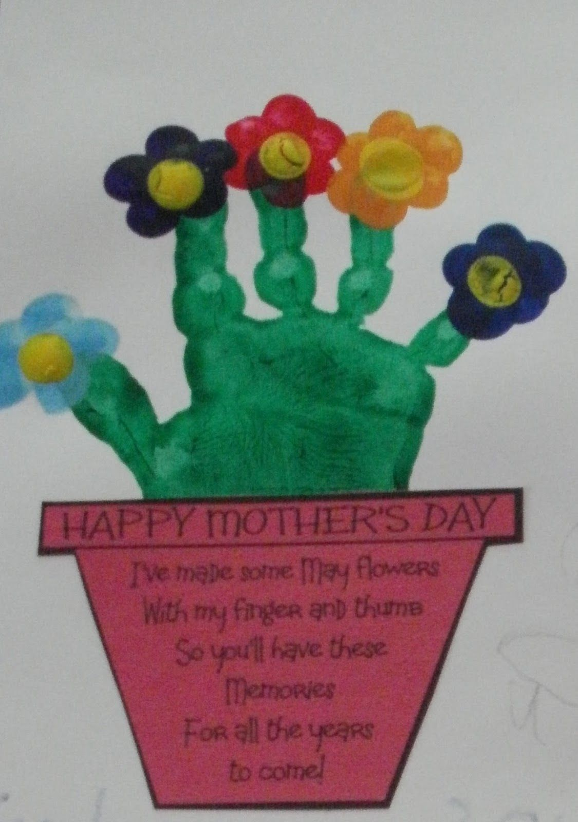 Hand Print Flower Bouquet with Printable | Flower bouquets, Flower ...