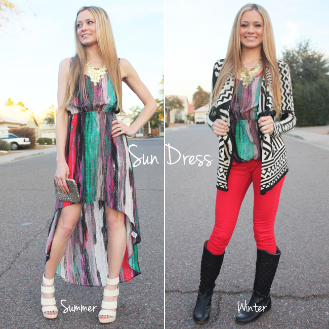 Creative Ideas For Wearing Summer Clothes In The Winter