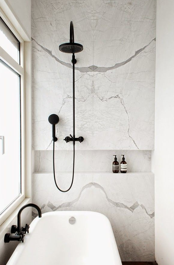 Love the black taps and shower fittings | Bathrooms | Pinterest ...