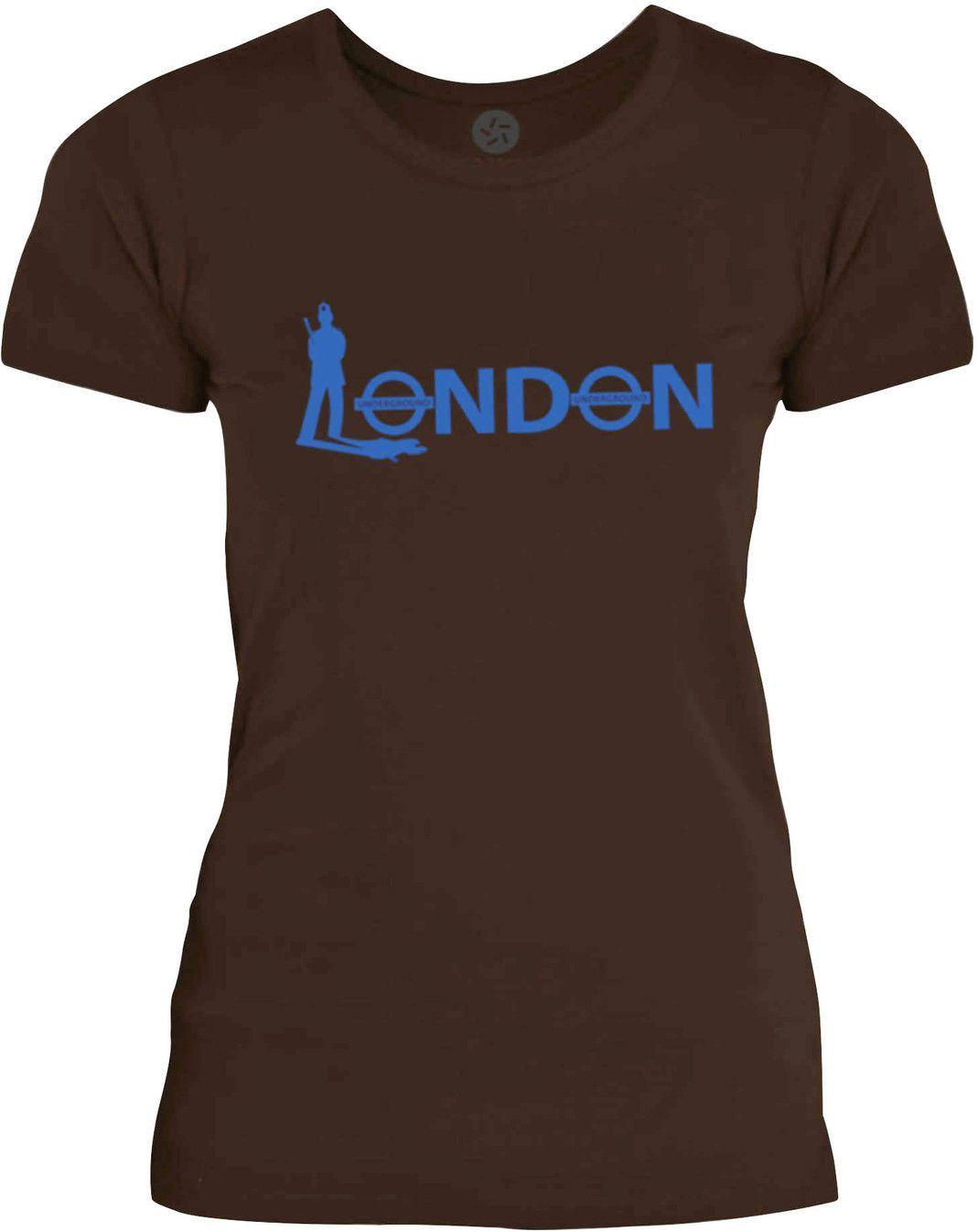 Big Texas London Bobby (Blue) Womens Fine Jersey T-Shirt