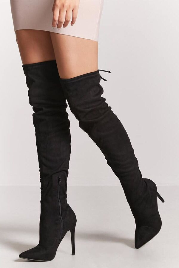 Faux Suede #Over-the-Knee Boots