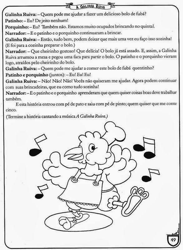 Pin De Juliana Reis Em Galinha Ruiva Historinhas Infantil