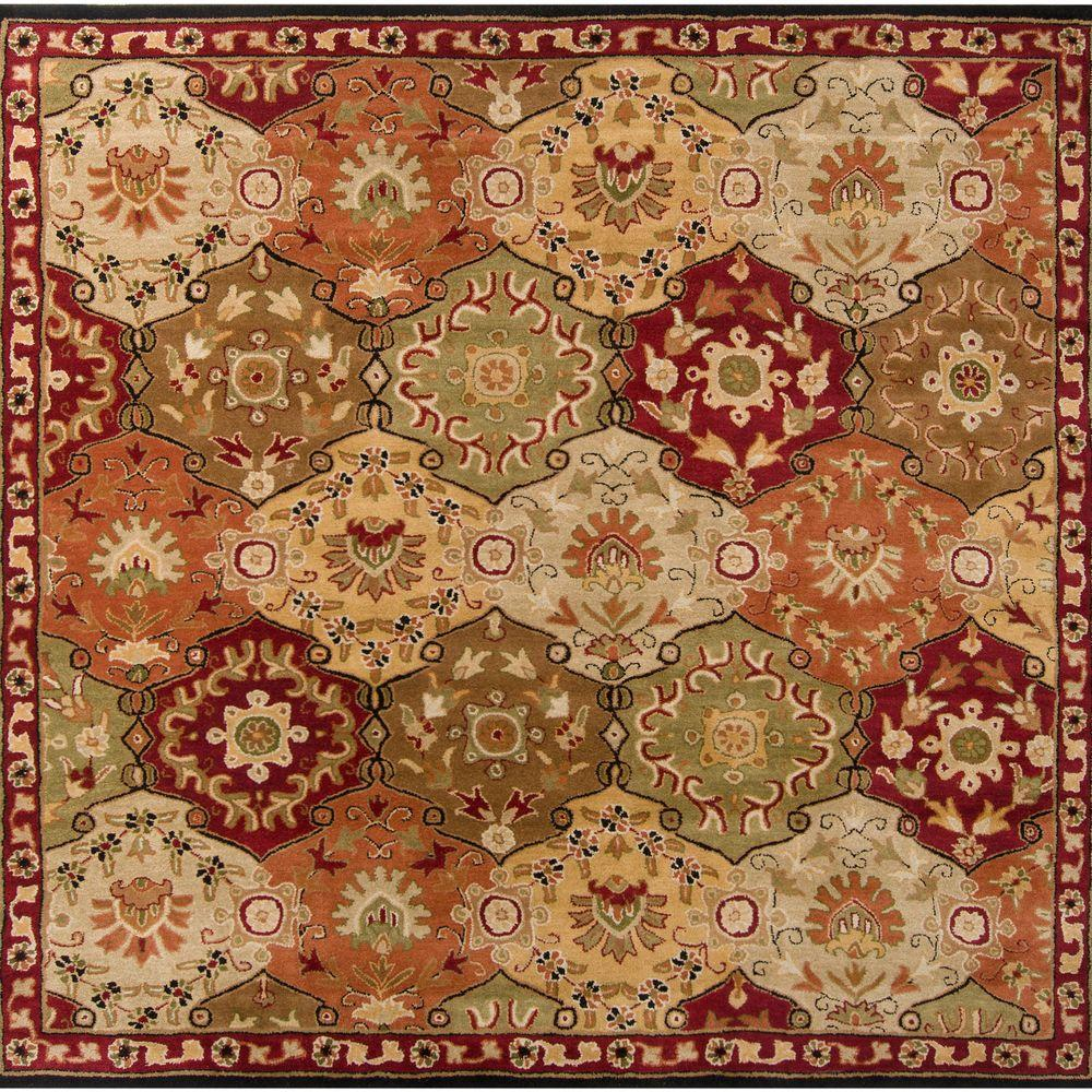 Artistic Weavers John Red 10 Ft X 10 Ft Square Area Rug S00151006486 Area Rugs Rugs Traditional Area Rugs