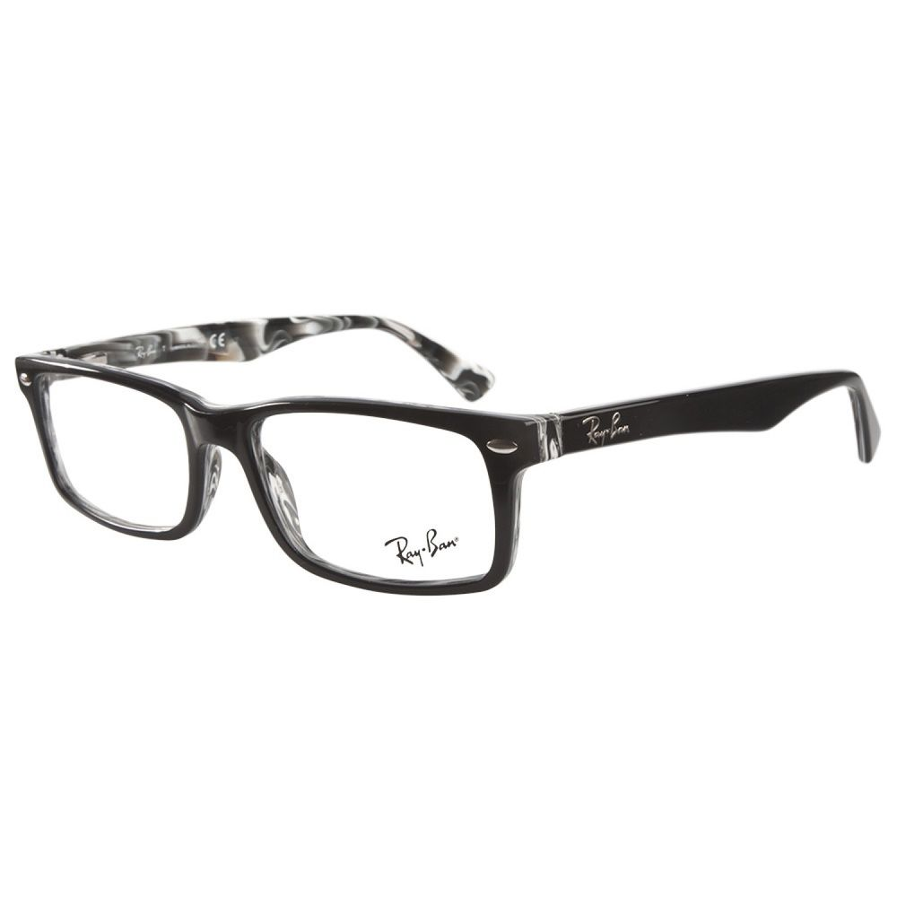 ray ban shopping  Ray-Ban RB5162 2262 Black on White Horn Prescription Eyeglasses by ...