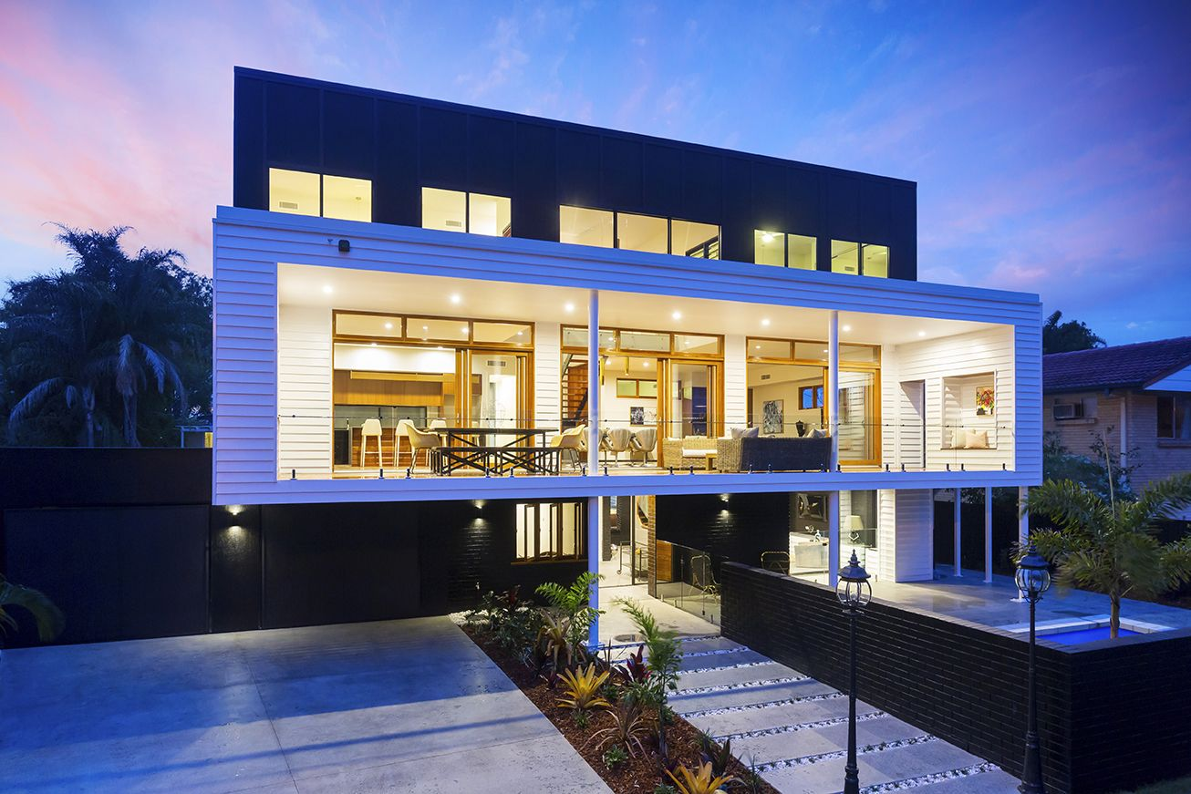 This luxuriously designed three level contemporary benefits