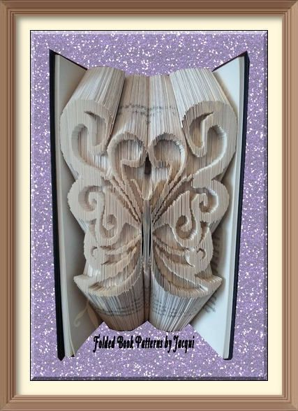 Key Folded Book Art Folding PATTERN ONLY #2121