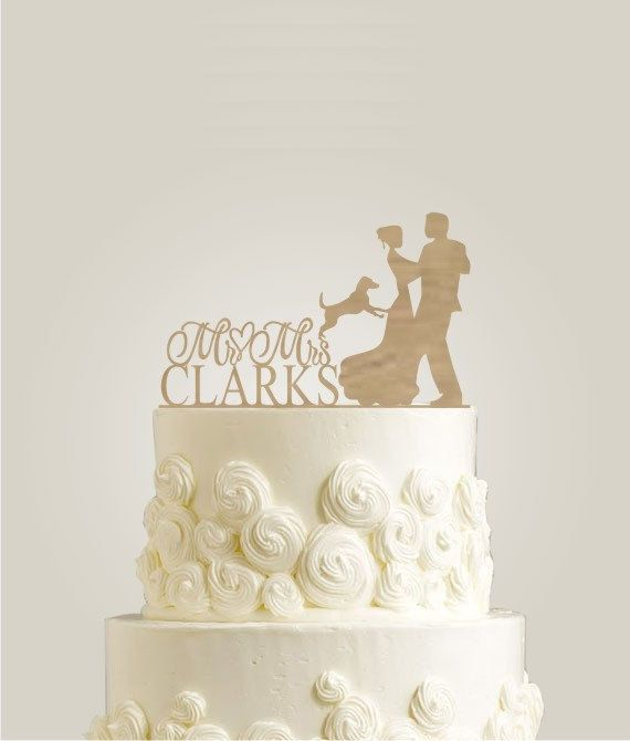 In LOVE With This Cake Topper! Custom Wedding Cake Topper Bride And Groom  By LaserDesignShop