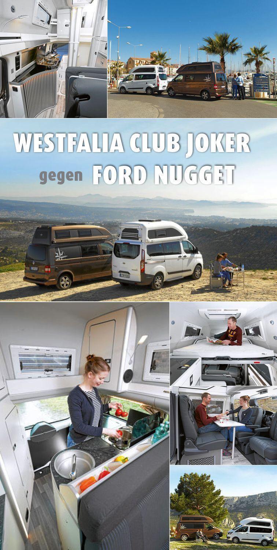 Westfalia Club Joker gegen Ford Nugget Kompakt und wetterfest sind beide. Fahraktiv ebenso: Club Jo