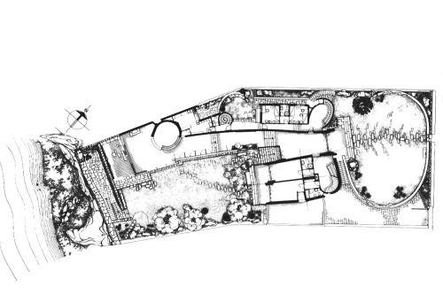 Luigi Moretti | Villa Saracena | Plan | 1954 | Italy