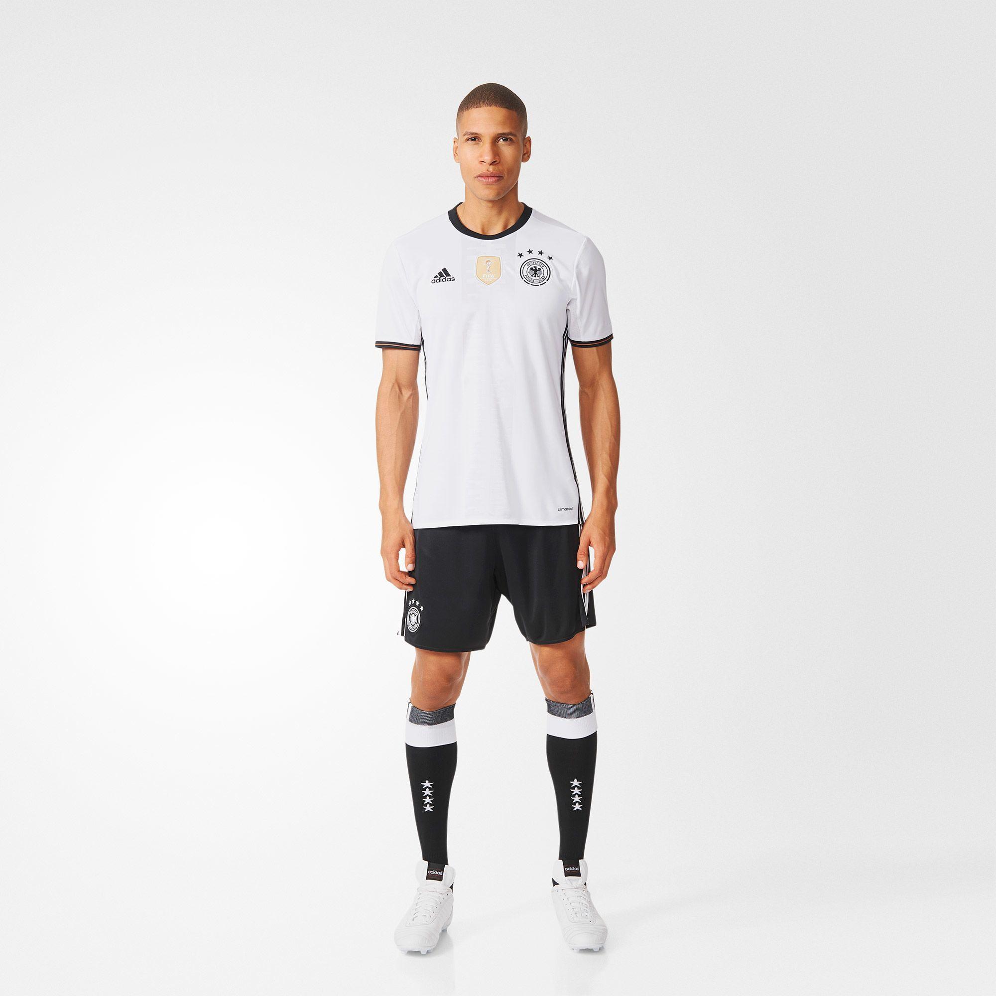 adidas UEFA EURO 2016 DFB Heimtrikot Replica - weiß   adidas Deutschland