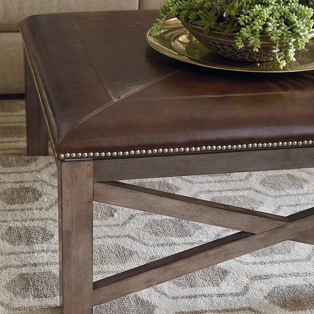 Brown Ottoman Cocktail Table Living Room Table Square Ottoman Living Room End Tables [ 1000 x 1000 Pixel ]
