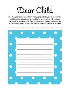 dear child write a letter parent teacher conferences school