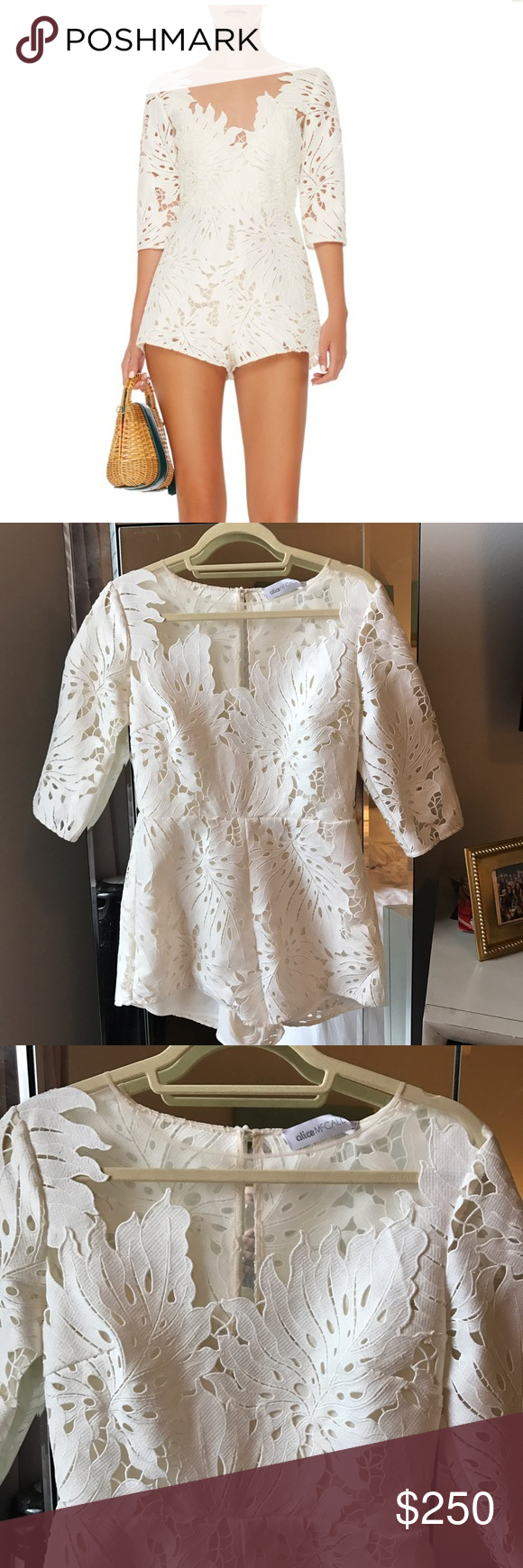cd66a18c24 Alice McCall Rumours Lace Playsuit Romper White Gorgeous romper!! Bought  for graduation thinking it was a AUS 6---but it is actually USA 6 (AUS 10).