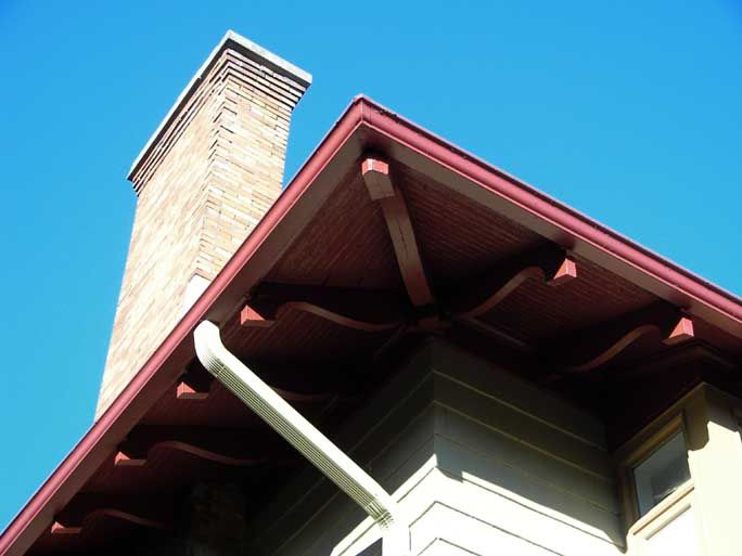 No Horizontal Soffit Exposed Underside Of Roof Sheathing Stairs And Doors Roof Trim Roof Sheathing