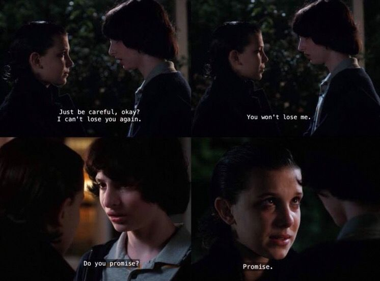 Mike And Eleven After Reuniting Stranger Things 2