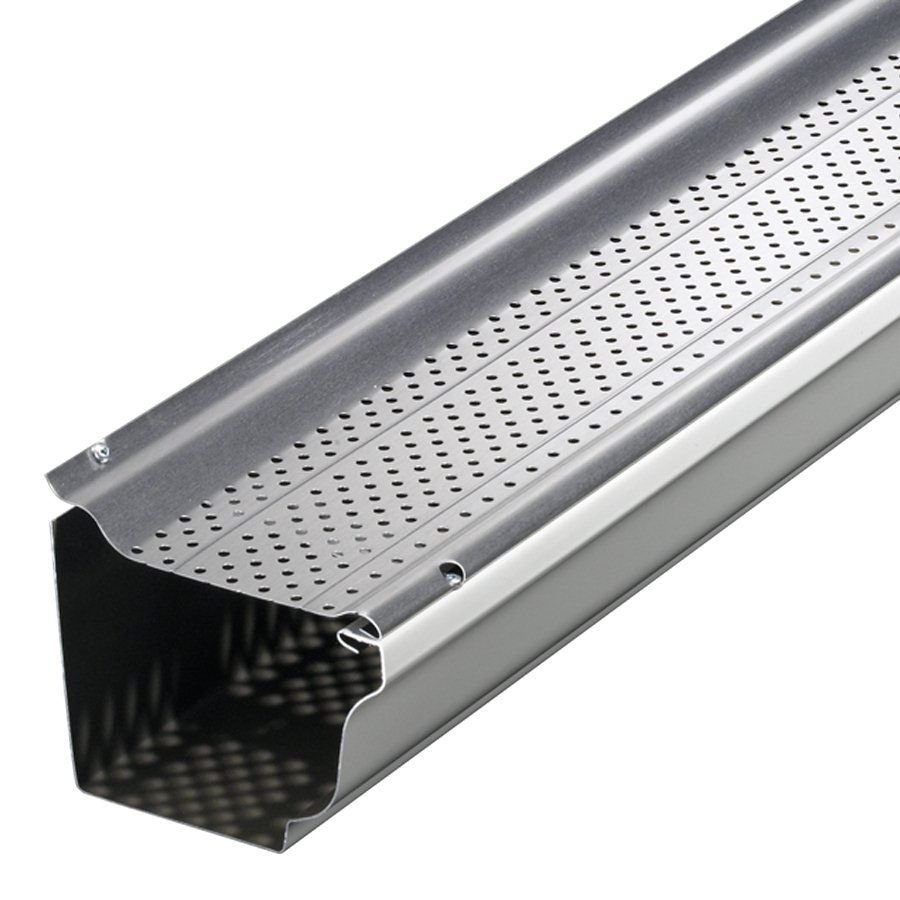 Shop Smart Screen Five 4 Aluminum Gutter Guards At Lowe S Canada Find Our Selection Of Gutter Guards At The Lowe Calhas Telhado De Vidro Estrutura De Telhado