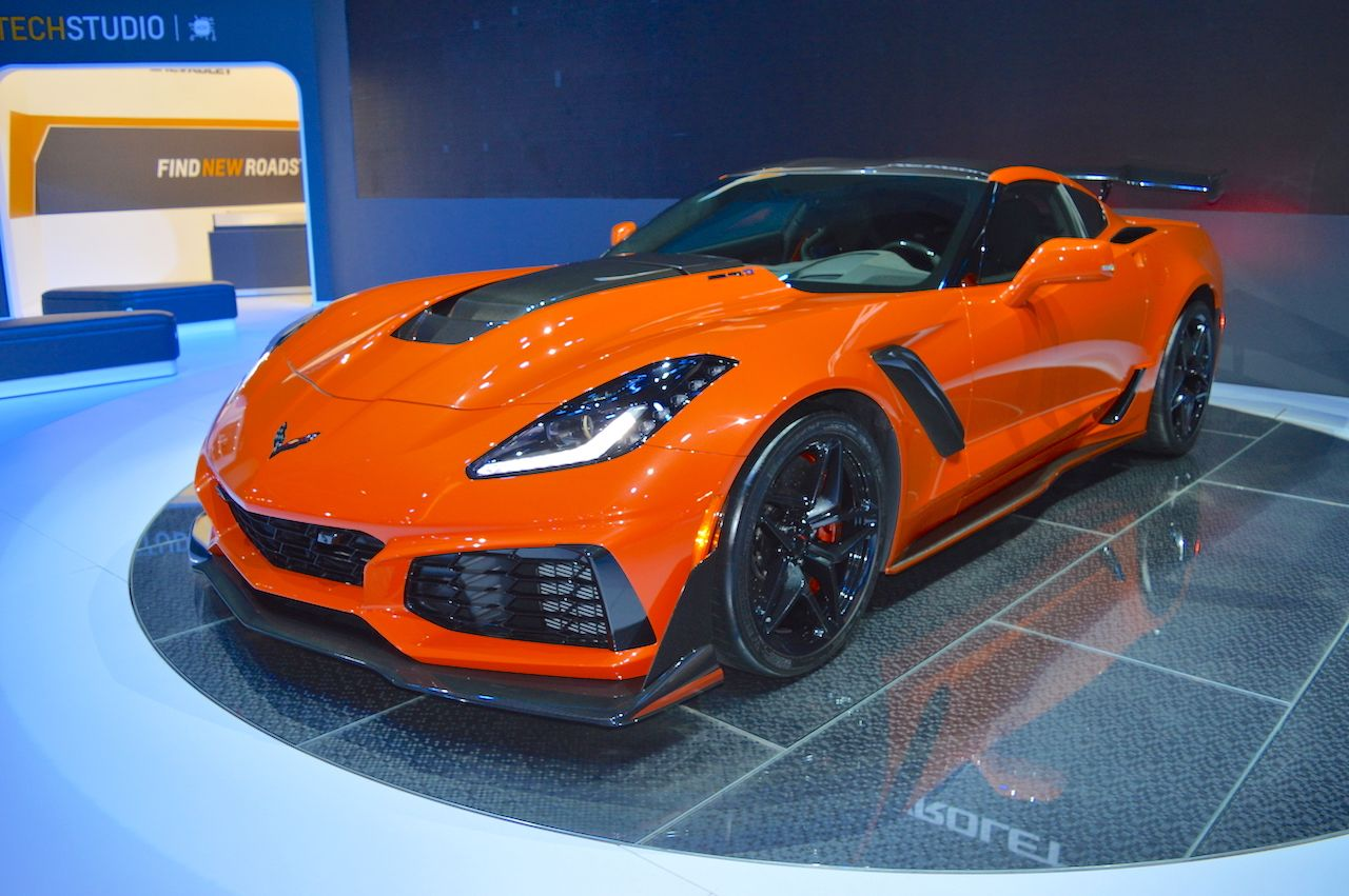 2019 Chevrolet Corvette ZR1 at 2017 Dubai Motor Show