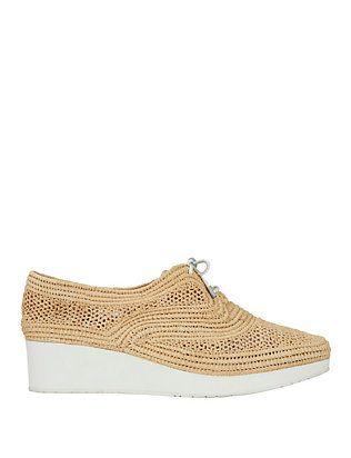 c9990395830 Robert Clergerie Raffia Platform Sneakers