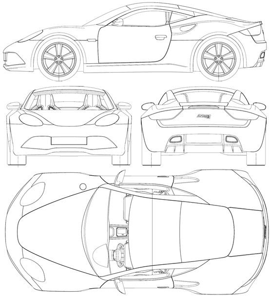 Car blueprint tortas autos pinterest planos de autos y car blueprint malvernweather Images