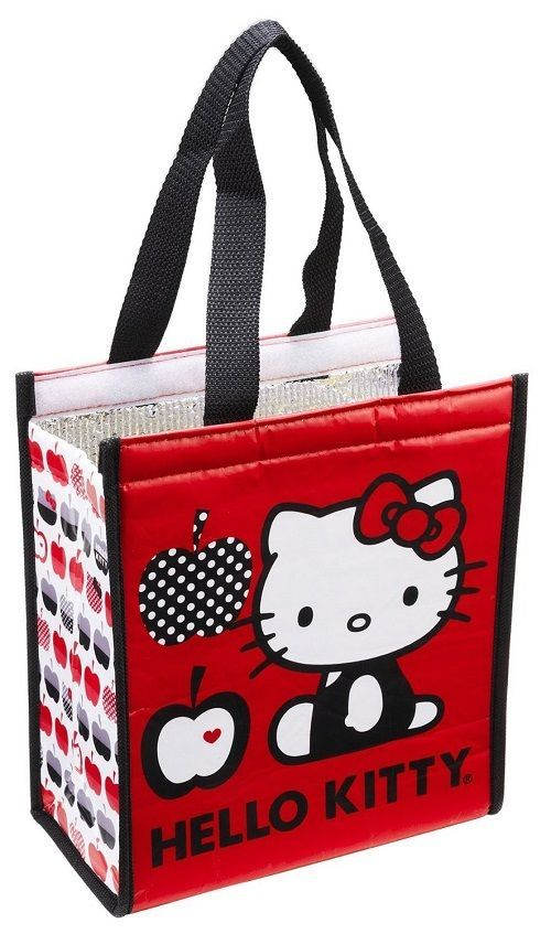 dbaf32f53 HELLO kitty small INSULATED travel LUNCH tote BAG velcro CLOSURE Kids ADULTS