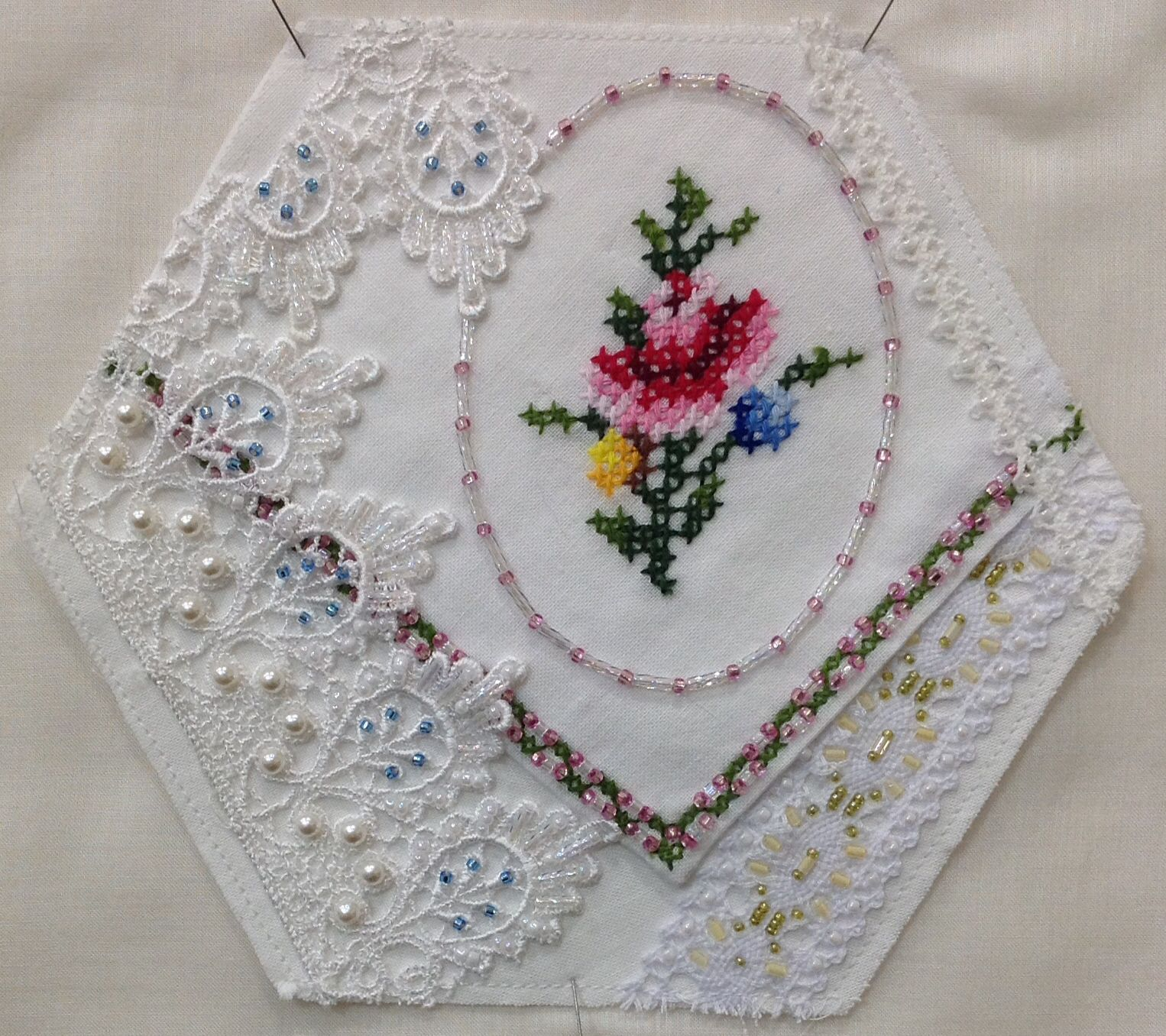 Block 2 is finished HEX Embroidery Pinterest